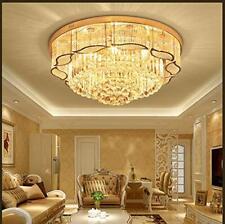 Flush Mount K9 Crystal Ceiling Chandelier Light  Hanging Living Room Decors 80CM
