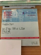 Used  Freddie Starr Tickets 1999
