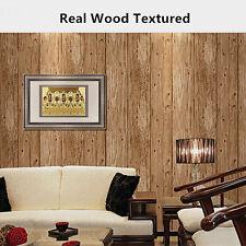 Realistic Wood Paneling Timber Plank Oak Stripe Project Wallpaper Sample KZ0102
