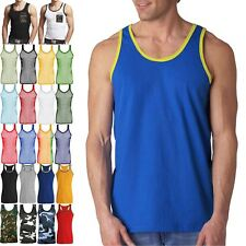 08515bc79a809 NEW MENS VEST 100% COTTON TANK TOP T-SHIRTS TRIM MUSCLE SLEEVELESS SUMMER  BEACH