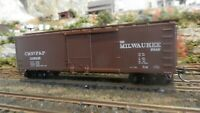 Walthers HO  40' DS Wood  Boxcar, Milwaukee Road, Upgraded, Exc.