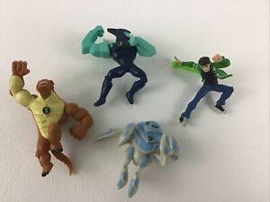 Ben 10 Alien Force Mini Action Figures 4pc Lot Diamondhead Ben Ampfibian Bandai