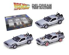 Back to The Future Trilogy Delorean 1:24 Scale Die Cast Set