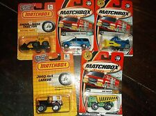 Vintage Toy Cars MATCHBOX(2001)-5 TOTAL 2 tough 3 Construction Vehicles-UnOpened
