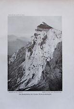 Benesch: Randabstürze Große Weitschartenkopf - Originaldruck aus 1910 Alpinismus