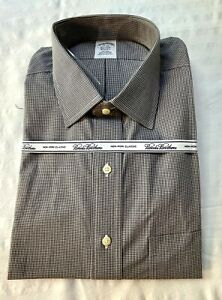 Brooks Brothers Men's Dress Shirt  Classic 17-34 Black  New With Tags