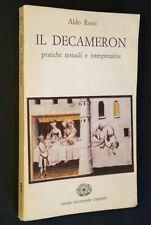 Aldo Rossi - Il Decameron - pratiche testuali e interpretative - Cappelli 1982