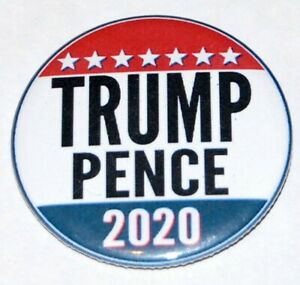 2020 DONALD J. TRUMP Mike Pence pin button pinback MAGA MAKE AMERICA GREAT AGAIN