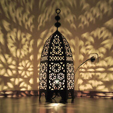 """Orientalische Eisen LATERNE Orient Lampe MAROKKO Eisenlaterne """"Msedess"""" H55cm"""