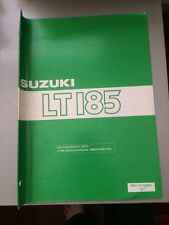 1986 Suzuki LT185 Supplementary Service Manual 99501-41120-01E