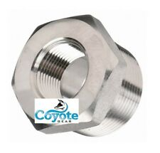 """High Pressure 1/2"""" Male x 3/8"""" Female 304 Stainless Hex Reducer Bushing 3000 NPT"""