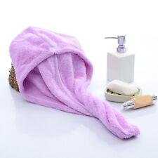 Microfiber Towel Quick Dry Hair Magic Drying Turban Wrap Hat Spa Bathin Cap