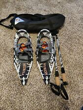 Snowshoes Yukon Pro V Series 9x25 with Poles Nice set