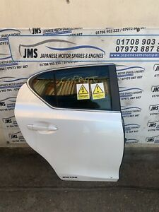 *Breaking Lexus CT200h* Lexus CT200h Driver Side Rear Door Shell In White