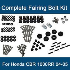 Black Honda CBR1000RR CBR 1000RR 2004 2005 Complete Fairing Bolt Kit Screws