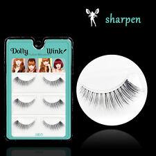 3 Pairs Eyelash Natural Makeup Stretched Woman Fake False Eyelashes Beauty Dense