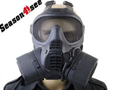 Ourdoor Tactical Gas Full Face Mask Cover With Fan Respiratory Anti-virus Mask
