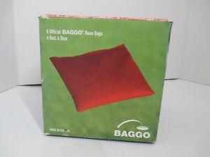Official OEM BAGGO Bean Bags 8 (4 Red/Blue) Tailgate Toss Cornhole New Open Box