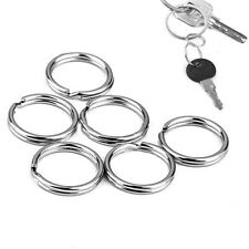 10PCS Metal Silver  Key Holder Split Rings Keyring Keychain Keyfob Accessories