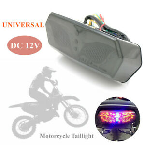 1×12V Motorcycle Modified Brake Rear Taillight LED License Plate Cornering Lamp