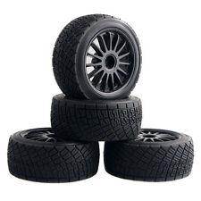 RC HPI 107870 Black Rim Tires&Wheel 4PCS sets For Electric WR8 Flux