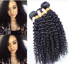 3 Bundles Peruvian Kinky Curly Human Hair Extensions Unprocessed Hair 150G Weft