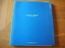 Vintage GIORGIO ARMANI Mens Spring Summer 1995 COLLECTION CATALOG Rare FASHION