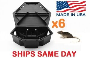 6x HEAVYDUTY RAT MOUSE RODENT BAIT STATION Lockable Tamper & Weather Proof Traps