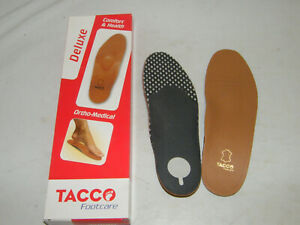 Tacco Sz. 45 Leather Footbed Deluxe Supports Foot Arch Charcoal Against Smell