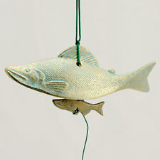 Japanese Furin Wind-chimes Bell Nambu Cast Iron Water Salmon Design /Made Japan
