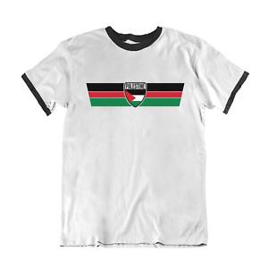PALESTINE Protest T-Shirt RETRO Strip Palestinian Peace Freedom Rally Eco Top