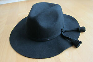 Impressionen * Damen Hut schwarz sehr gut Filz Wolle