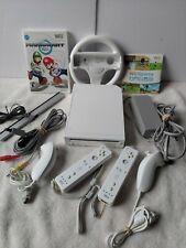 Nintendo Wii Console MARIO KART BUNDLE  Wheel  Wii Sports