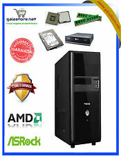 COMPUTER DESKTOP AMD QUAD CORE/RAM 4GB/HD 500GB/PC ASSEMBLATO FISSO COMPLETO