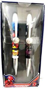 Marvel Spider-man Decorative Graphic Multicolored Pens Set of 2 Black Ink