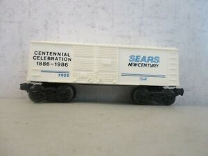LIONEL 7920 SEARS NEW CENTURY BOXCAR 1886-1986 0-27 EXCELLENT CONDITION