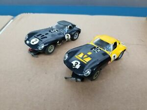2-VTG 1:32 Cox Cheetah Slot Cars Tested Working Shelf C4