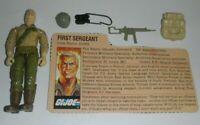 1983 GI Joe Mail Away Duke v1 Figure Complete w/ File Card & Flag Sticker *READ*