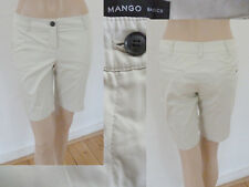 Mango kurze Hose Shorts Chinos Jeans Low Hip Stretch Weiss 36 Top Zustand