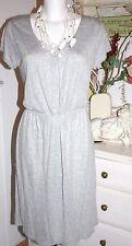 Noa Noa Dress Kleid Viscose Melange Jersey Kurzarm Grey  Size: XL Neu