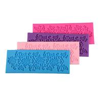 Pizzo Silicone Fondente BakingCake Zucchero Craft Stampo che decora StampoAUIT