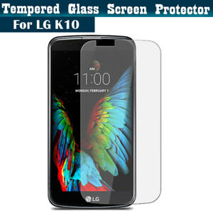 100% Genuine Tempered Glass Film Screen Protector CLEAR Cover For LG K10 (2016)