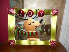 Pfaltzgraff Holiday Happenings Reindeer Christmas Platter Plate Serving Tray NIB