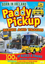 PADDY PICKUP 100s of Buses & Trains CHILDREN'S EARLY LEARNING DVD + bonus songs