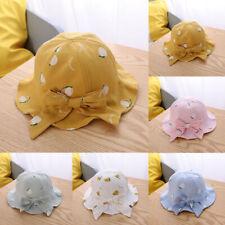 Kids Summer Bow Fruit Sun Princess Protection Bucket Hat Sunscreen Fashion Cap