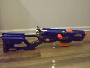 Nerf Long Strike CS-6 Blaster Dart Toy Gun SOME MISSING PARTS