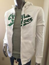 $80 new quicksilver white green fleece hoody jacket small