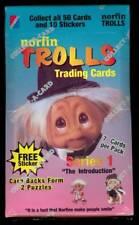 1992 Collect-A-Card Norfin Trolls Wax Pack Box 1993 Set
