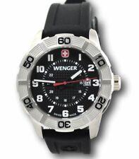 Wenger Precise INT Men S Roadster Sport Watch Black Dial Orange Strap 851106