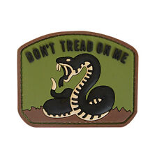 3D PVC Don't Tread On Me Military Army Tactical Airsoft Morale Patch Woodland